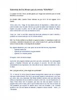 Entrevista de Eva Monro para la revista EDANZA